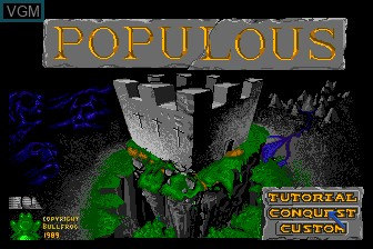 Title screen of the game Populous on NEC PC Engine