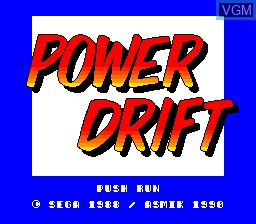 Title screen of the game Power Drift on NEC PC Engine