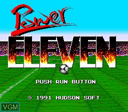 Title screen of the game Power Eleven on NEC PC Engine