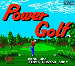 Title screen of the game Power Golf on NEC PC Engine