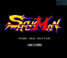 Title screen of the game ShockMan on NEC PC Engine