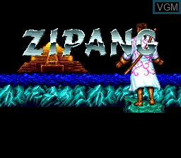 Title screen of the game Zipang on NEC PC Engine