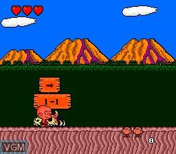Menu screen of the game Bonk's Adventure on NEC PC Engine