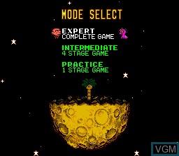 Menu screen of the game Bonk's Revenge on NEC PC Engine