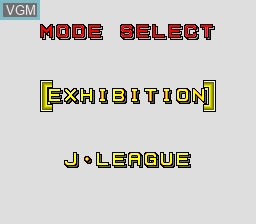 Menu screen of the game J. League Greatest Eleven on NEC PC Engine