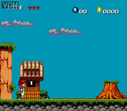 Menu screen of the game Keith Courage in Alpha Zones on NEC PC Engine