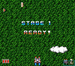 Menu screen of the game Override - Mission Code -Override- on NEC PC Engine