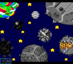 Menu screen of the game Parasol Stars - The Story of Bubble Bobble III on NEC PC Engine