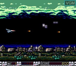 In-game screen of the game Aldynes on NEC PC Engine