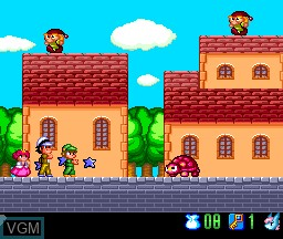 In-game screen of the game Aoi Blink on NEC PC Engine