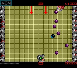 In-game screen of the game Ballistix on NEC PC Engine