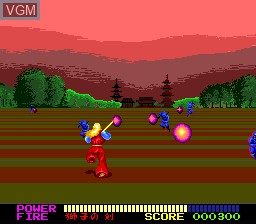 In-game screen of the game Jinmu Denshou on NEC PC Engine