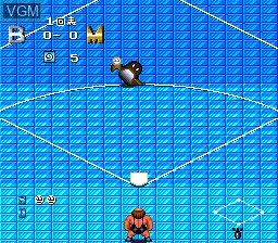In-game screen of the game Kick Ball on NEC PC Engine