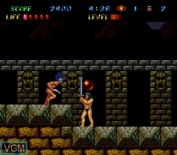 In-game screen of the game Legendary Axe II, The on NEC PC Engine