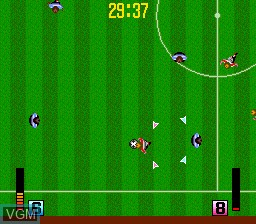 In-game screen of the game Power Eleven on NEC PC Engine
