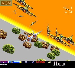 In-game screen of the game After Burner II on NEC PC Engine
