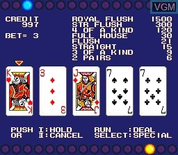 In-game screen of the game Av Poker on NEC PC Engine