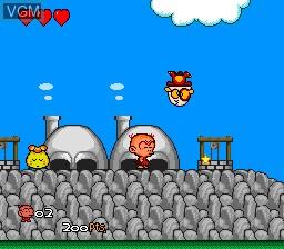 In-game screen of the game Bonk III - Bonk's Big Adventure on NEC PC Engine