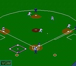 In-game screen of the game Kore ga Pro Yakyuu '89 on NEC PC Engine