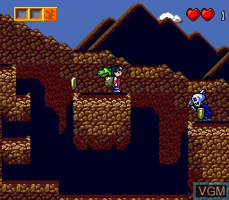 In-game screen of the game Dragon Egg! on NEC PC Engine