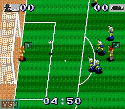 In-game screen of the game J. League Greatest Eleven on NEC PC Engine