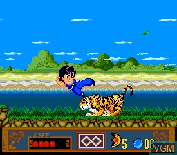 In-game screen of the game Jackie Chan's Action Kung Fu on NEC PC Engine