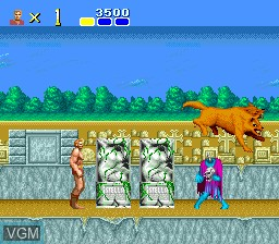 In-game screen of the game Juuouki on NEC PC Engine
