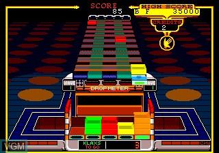 In-game screen of the game Klax on NEC PC Engine