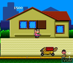 In-game screen of the game Obocchamakun on NEC PC Engine