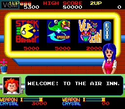 In-game screen of the game Ordyne on NEC PC Engine