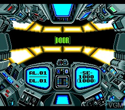 In-game screen of the game Out Live - It's Far a Future on Planet on NEC PC Engine