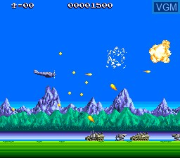 In-game screen of the game P-47 - The Freedom Fighter on NEC PC Engine