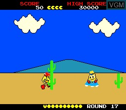 In-game screen of the game Pac-Land on NEC PC Engine