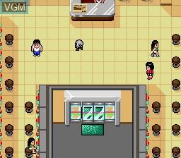 In-game screen of the game Pachiokun Juuban Shoubu on NEC PC Engine