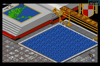 In-game screen of the game Populous on NEC PC Engine