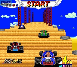 In-game screen of the game Power Drift on NEC PC Engine