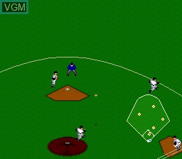 In-game screen of the game Power League '93 on NEC PC Engine