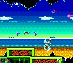 In-game screen of the game Psychosis on NEC PC Engine