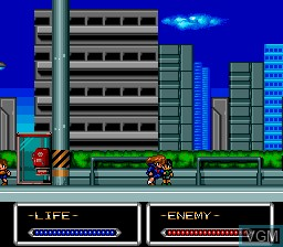 In-game screen of the game ShockMan on NEC PC Engine