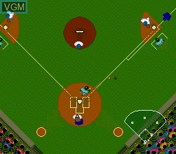 In-game screen of the game World Class Baseball on NEC PC Engine