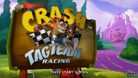 Crash Tag Team Racing for Sony PSP - The Video Games Museum