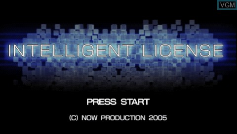 Title screen of the game Intelligent License on Sony PSP