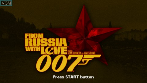 Title screen of the game 007 - From Russia with Love on Sony PSP