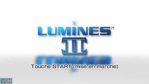 Title screen of the game Lumines II on Sony PSP
