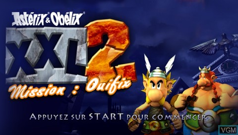 Title screen of the game Asterix & Obelix XXL 2 - Mission WiFix on Sony PSP