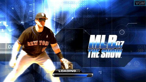 Title screen of the game MLB 07 - The Show on Sony PSP