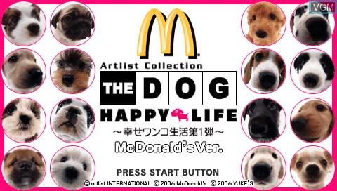 Title screen of the game Dog, The - Happy Life - Shiawase Wanko Seikatsu Dai Ichidan on Sony PSP