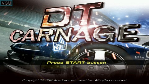 Title screen of the game DT Carnage on Sony PSP