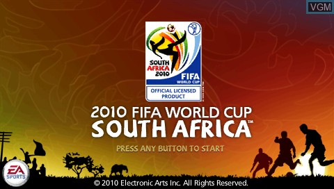 Title screen of the game 2010 FIFA World Cup - South Africa on Sony PSP