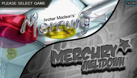 Title screen of the game 2 Games in 1! - Archer Maclean's Mercury & Mercury Meltdown on Sony PSP